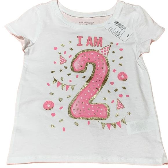 Children's Place Baby Toddler I am 2 T-shirt Sz 3T